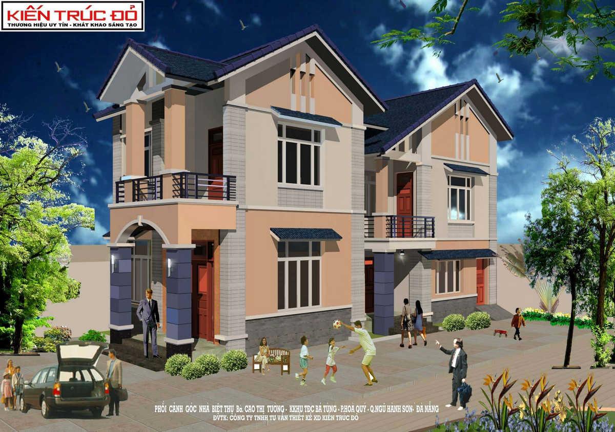 mau nha dep da nang ms0010 - Tư vấn mẫu thiết kế biệt thự đẹp ở Đà Nẵng