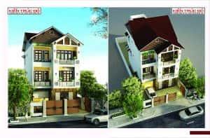 mau nha dep da nang ms0012 300x197 - Thiết kế nhà mặt phố 3 tầng mái đẹp Đà Nẵng