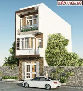 mau nha dep da nang ms0016 274x300 - Mẫu thiết kế nhà phố 3 tầng đẹp hiện đại Đà Nẵng