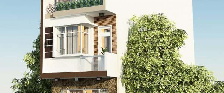 Mẫu thiết kế nhà phố 3 tầng đẹp hiện đại Đà Nẵng