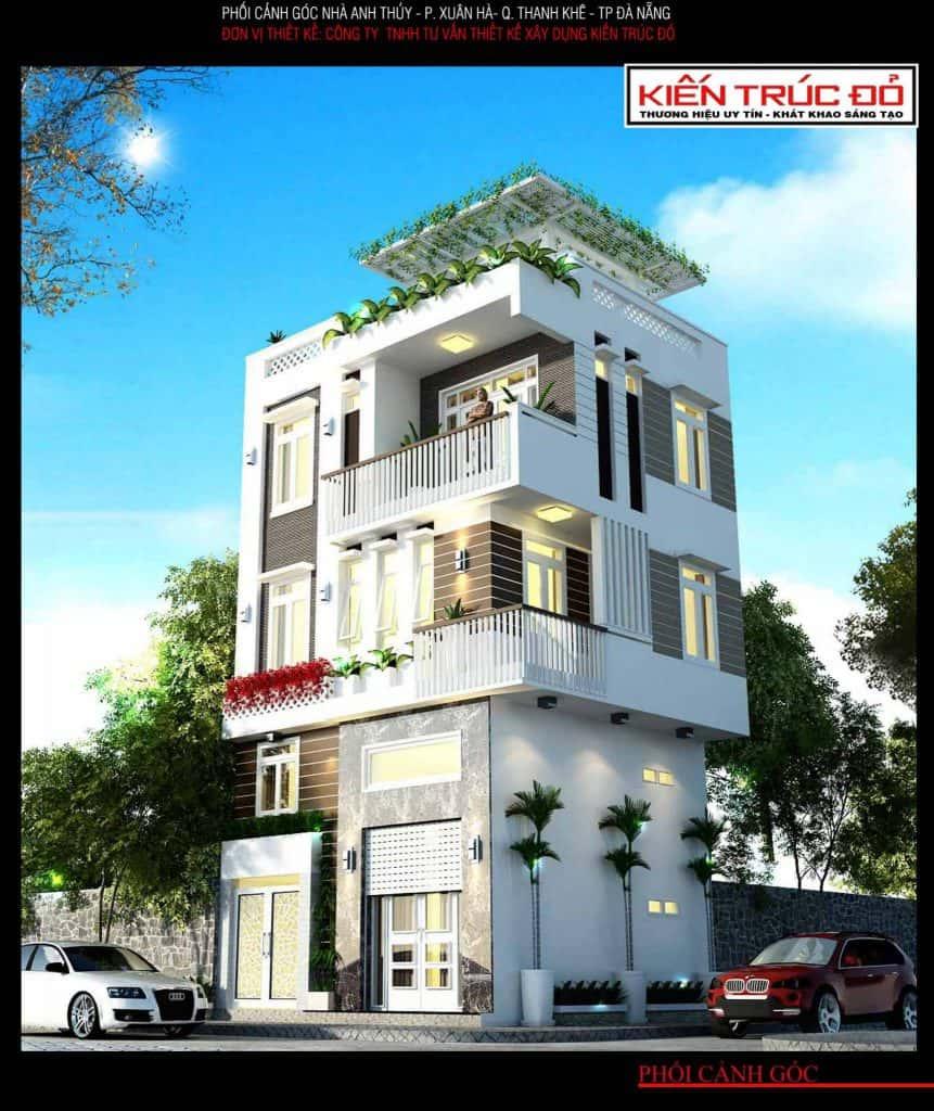 mau nha dep da nang ms002 861x1024 - Mẫu thiết kế nhà phố 3 tầng Đà Nẵng