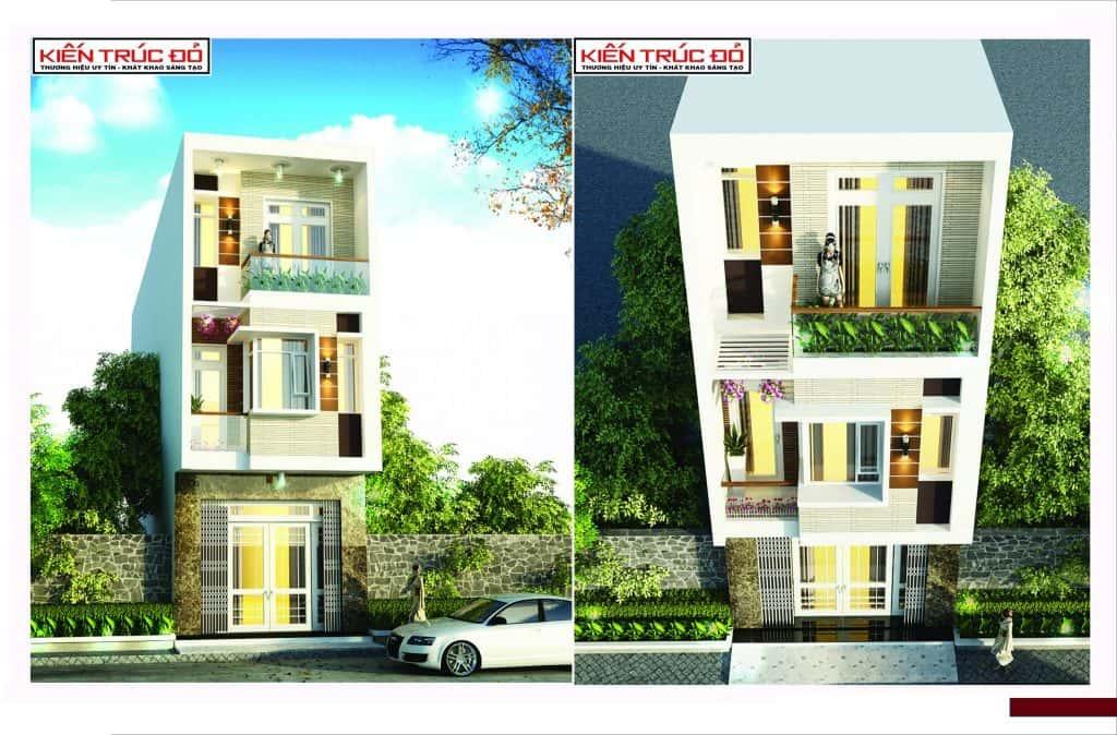 mau nha dep da nang ms008 1024x674 - Mẫu nhà phố 3 tầng hiện đại ở Đà Nẵng đẹp