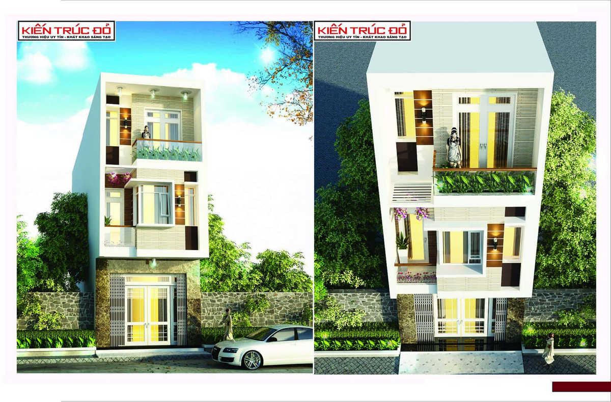mau nha dep da nang ms008 - Mẫu nhà phố 3 tầng hiện đại ở Đà Nẵng đẹp
