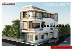 mau nha dep da nang thanh khe 300x209 - Mẫu thiết kế nhà góc phố 3 tầng 2 mặt tiền Đà Nẵng