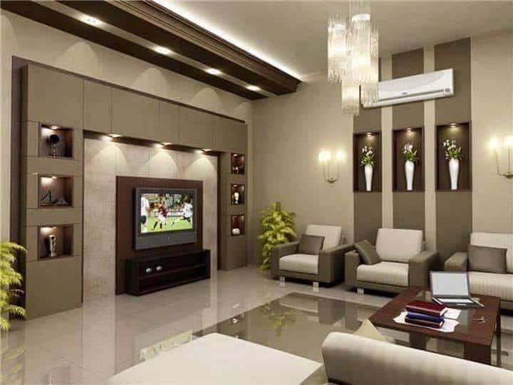 mau thiet ke phong khach dep face001 - 8 Mẫu thiết kế nội thất nhà phố cấp 4 đẹp và tiện nghi