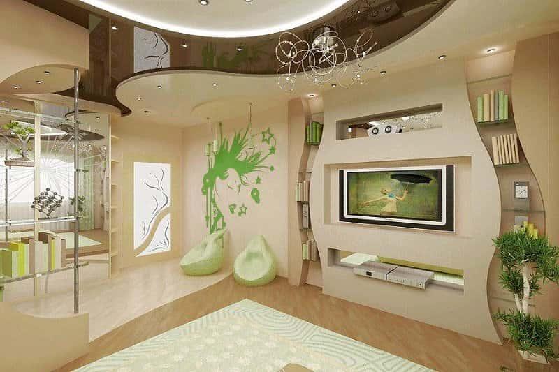 mau thiet ke phong khach dep face003 - 8 Mẫu thiết kế nội thất nhà phố cấp 4 đẹp và tiện nghi