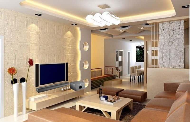 mau thiet ke phong khach dep face005 - 8 Mẫu thiết kế nội thất nhà phố cấp 4 đẹp và tiện nghi