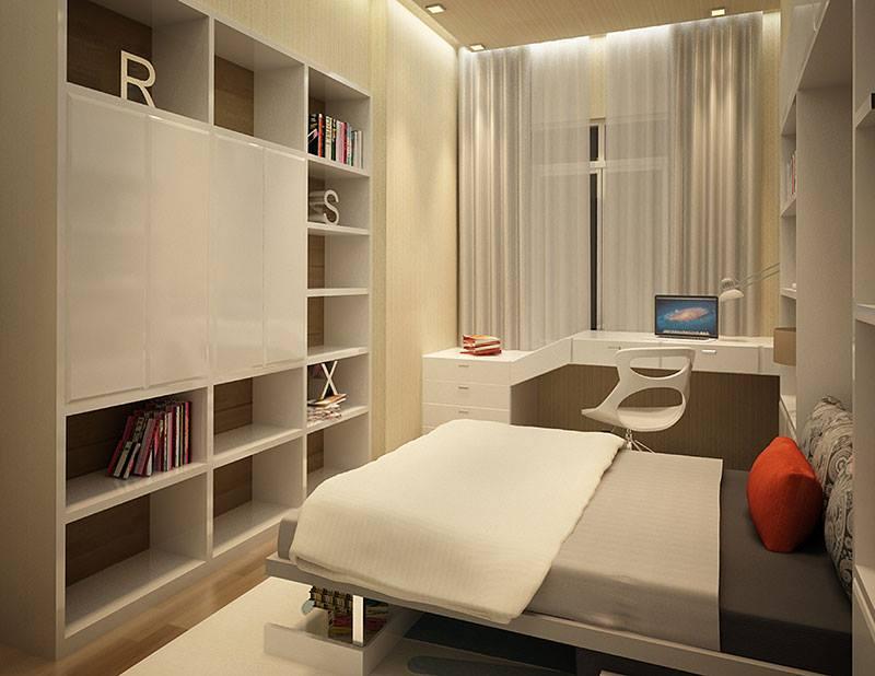 nội thất chung cư 150m2 phong ngu - Thiết kế nội thất chung cư hiện đại