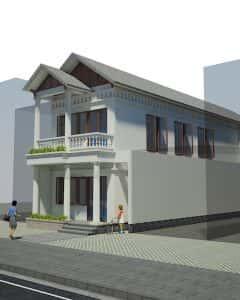 nha 2 tang mr khai 240x300 - Tư vấn thiết kế Nhà nhỏ 35 m2 theo phong thủy năm 2016