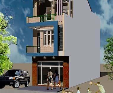 Thiết kế nhà 3 tầng trên đất méo