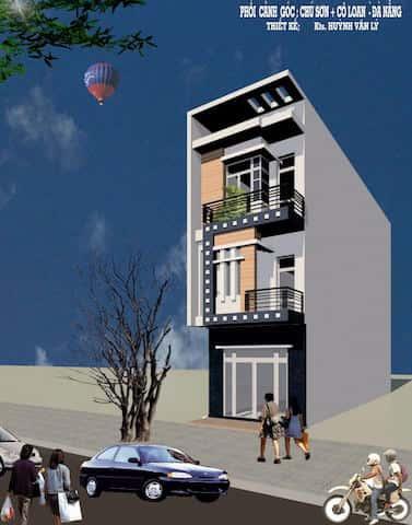 nha 3 tang anh at dn003 - Thiết kế nhà 3.5 tầng cô Loan chú Sơn Đà Nẵng