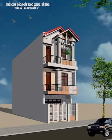 nha 3 tang anh quang ms001 - Thiết kế nhà 3 tầng anh Đoàn Ngọc Quang - Đà Nẵng