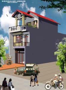 nha dep 2.5 tang 221x300 - Tư vấn thiết kế nhà phố 8x20m với kinh phí 600 triệu