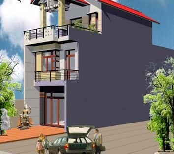 Thiết kế nhà anh Lê 2,5 tầng quận Ngũ Hành Sơn Đà Nẵng