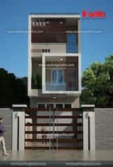 nha mat tien 55m ma2 - Tư vấn thiết kế Nhà 2 tầng, mặt tiền 5,5 m sang trọng