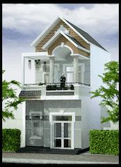 nha mat tien 55m ma5 - Tư vấn thiết kế Nhà 2 tầng, mặt tiền 5,5 m sang trọng