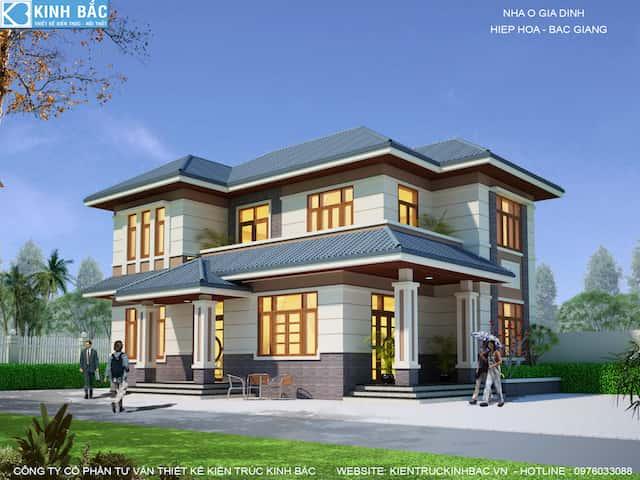 phoi canh 2.biet thu 2 tang bac giang - 30 Mẫu thiết kế biệt thự với kiến trúc hiện đại đẹp