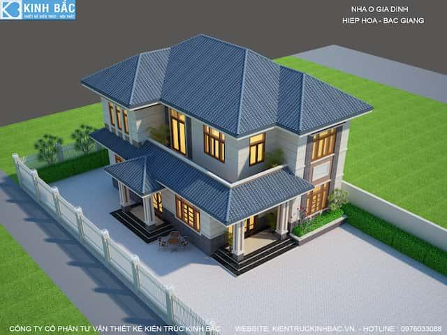 phoi canh 4 biet thu 2 tang bac giang - 30 Mẫu thiết kế biệt thự với kiến trúc hiện đại đẹp