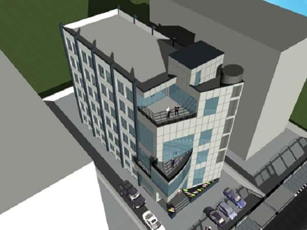 thiet ke khach san 001 - Thiết kế khách sạn 9 tầng đẹp