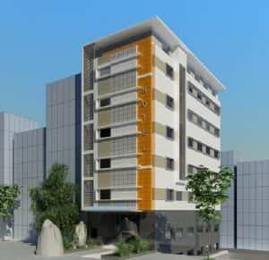 thiet ke khach san 001a 300x291 - Thiết kế khách sạn 7 tầng đẹp