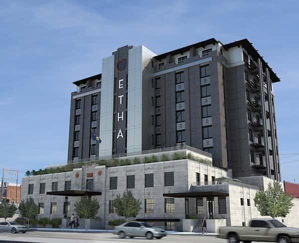 thiet ke khach san 001p - Thiết kế khách sạn 9 tầng đẹp
