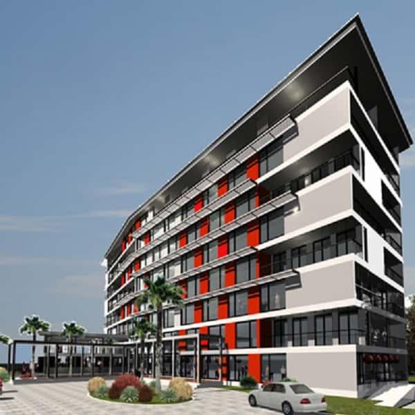 thiet ke khach san 001q - Thiết kế khách sạn 9 tầng đẹp