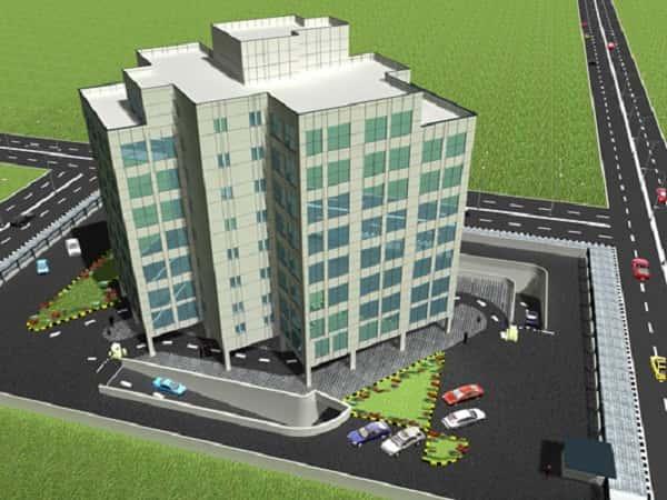 thiet ke khach san 002 - Thiết kế khách sạn 10 tầng đẹp