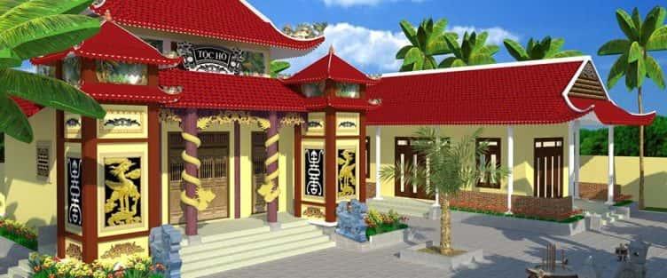 Thiết kế nhà thờ họ Hồ ở Đà Nẵng
