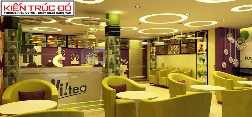 thiet ke quan cafe tra sua da nang ms005 - Thi công xây dựng quán cafe tại Hà Giang