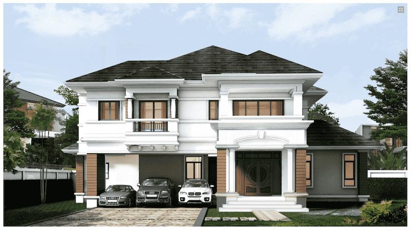 biet thu 2 tang hien dai mai thai - 30 Mẫu thiết kế biệt thự với kiến trúc hiện đại đẹp
