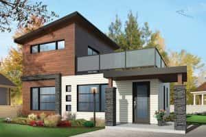 biet thu 2 tang san thuong hien dai 300x200 - Thiết kế nhà vườn đẹp