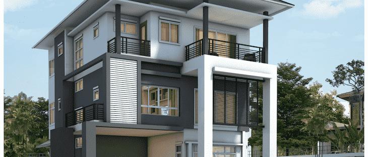 Thiết kế biệt thự 3 tầng với 6 phòng ngủ đẹp và hiện đại