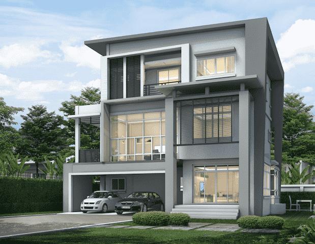 biet thu 3 tang hien dai mai thai tk1 - 100 mẫu biệt thự 3 tầng hiện đại đẹp nhất 2018