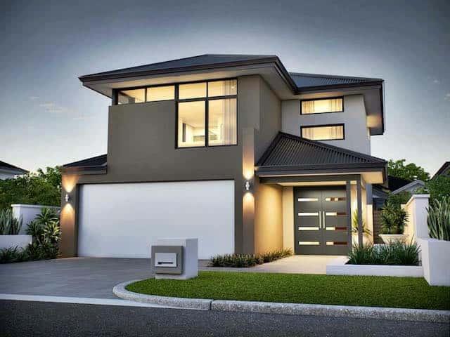 Tư vấn thiết kế căn biệt thự hiện đại đẹp thiết kế 2 tầng với 3 phòng ngủ