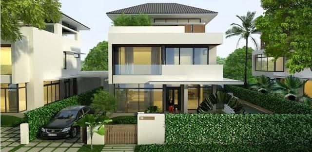 99 Mẫu thiết kế nhà phố, biệt thự phố 2, 3 tầng đẹp