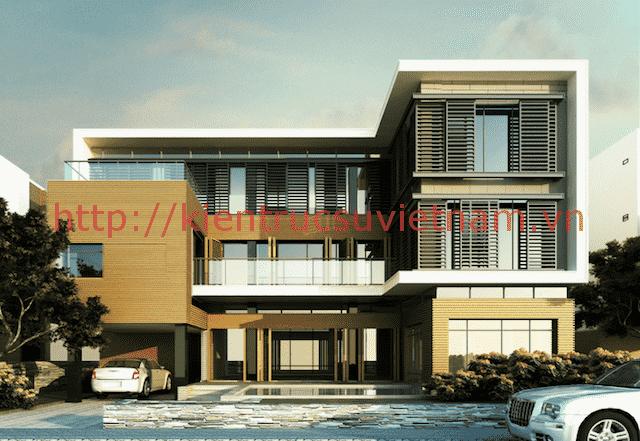 biet thu hien dai 5 - 100 mẫu biệt thự 3 tầng hiện đại đẹp nhất 2018