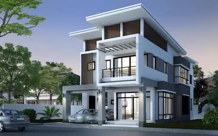 biet thu kieu thai dep 5 - 100 mẫu biệt thự 3 tầng hiện đại đẹp nhất 2018