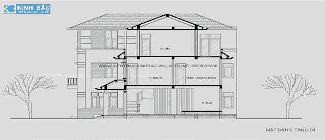 biet thu lanh soc son 3 - Tư vấn thi công thiết kế biệt thự 3 tầng hiện đại ông Lành Sóc Sơn