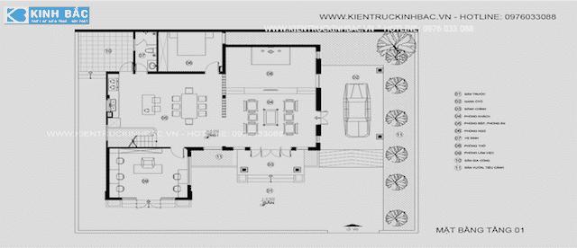 biet thu lanh soc son 4 - Tư vấn thi công thiết kế biệt thự 3 tầng hiện đại ông Lành Sóc Sơn