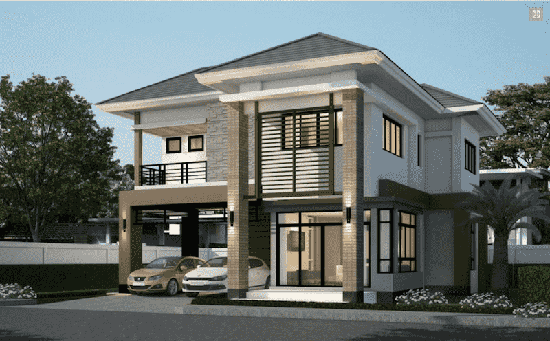 ma biet thu 2 tang dep hien dai - 30 Mẫu thiết kế biệt thự với kiến trúc hiện đại đẹp