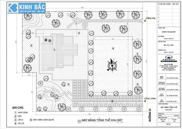 mat bang tong the biet thu mrbich - Thiết kế biệt thự 3 tầng ông Bích ở Yên Mỹ