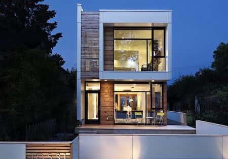 Ngôi nhà nhỏ 2 tầng được thiết kế nội thất trang trí hiện đại