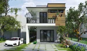 mau nha dep mnd001211 300x176 - Kinh ngạc với căn biệt thự 2 tầng hiện đại
