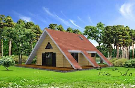 Mẫu nhà vườn 1 tầng được tạo hình mái tuyệt đẹp
