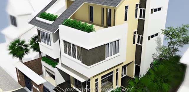Tư vấn thiết kế Biệt thự hiện đại 2 tầng 3 phòng ngủ đẹp