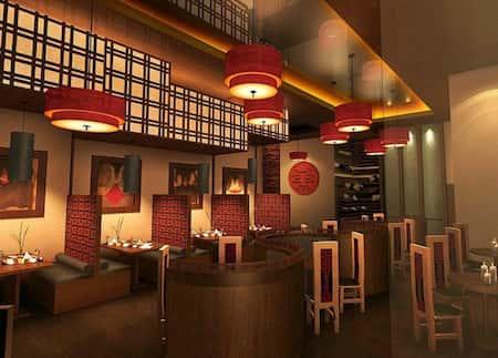 mau thiet ke nha hang trung quoc 1 - Thiết kế nhà hàng đẹp phong cách Trung Quốc