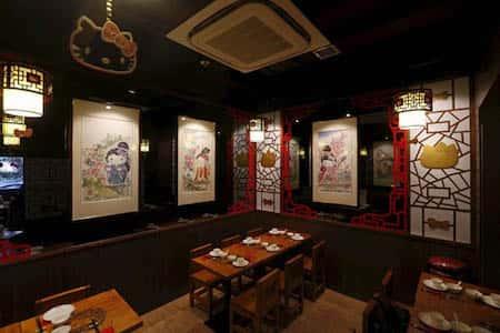 mau thiet ke nha hang trung quoc 13 - Thiết kế nhà hàng đẹp phong cách Trung Quốc