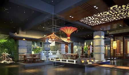 mau thiet ke nha hang trung quoc 5 - Thiết kế nhà hàng đẹp phong cách Trung Quốc