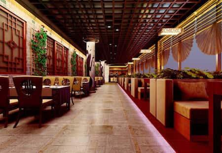 mau thiet ke nha hang trung quoc 7 - Thiết kế nhà hàng đẹp phong cách Trung Quốc