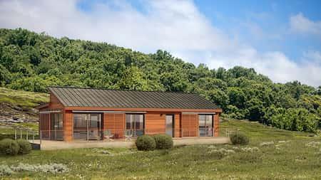 nha 1 tang vung nong thoi mai thai dep 3 - Nhà 1 tầng ở vùng nông thôn miền núi đẹp với 3 phòng ngủ